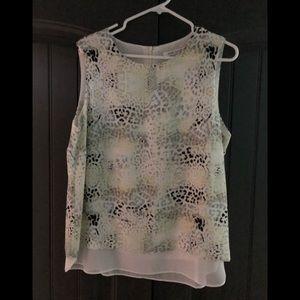 Rose & Olive sleeveless blouse.